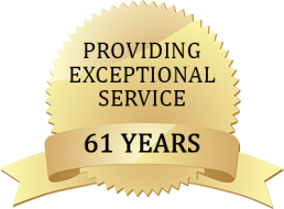providing exceptional service for 61 years