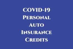 COVID-19 personal auto insurance credits graphic