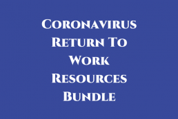 Coronavirus return to work resources bundle graphic